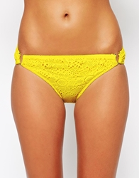 Lepel Summer Days Crochet Bikini Bottom Summeryellow