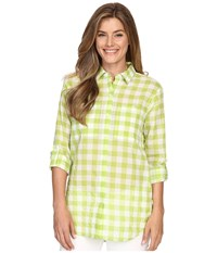 Michael Michael Kors Water Front Button Down Top Fresh Lime Women's Clothing Green
