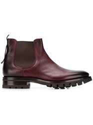 Santoni High Ankle Boots Red