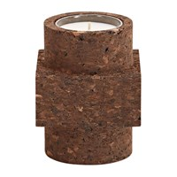 Tom Dixon Cork Candle Brown