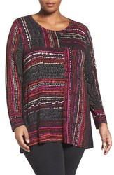 Nic Zoe Plus Size Women's 'Dotted Lines' Long Sleeve Top
