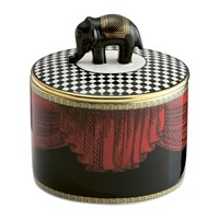 Richard Ginori 1735 Totem Elephant Cylindrical Box With Lid