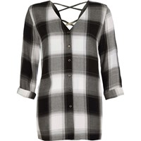 River Island Black Check Cross Back Shirt