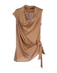 List Topwear Tops Women Camel