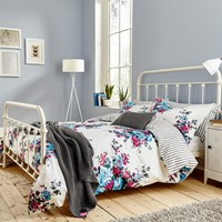 Joules Charlotte Cream Floral Duvet Cover Turquoise