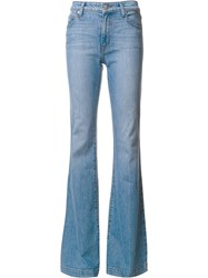 Derek Lam 10 Crosby Noha Mid Rise Sexy Flare Blue