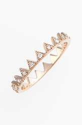 Kismet By Milka 'Lumiere' Diamond Crown Ring Rose Gold