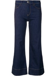 Emporio Armani Cropped Flared Jeans Blue