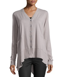 W By Wilt Slanted Hem Pocket Cardigan Elephant