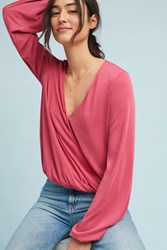 Sunday In Brooklyn Kinston Wrap Top Pink