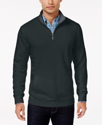 Club Room Men's Big And Tall Quarter Zip Sweater Only At Macy's Dark Lead