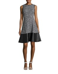 Tommy Hilfiger Tweed Fit And Flare Dress Black