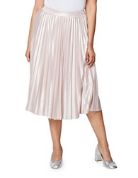 Rachel Rachel Roy Plus Accordion Pleated Skirt Metallic Blush Combo
