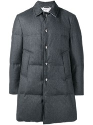Thom Browne Wool Flannel Bal Collar Overcoat 60