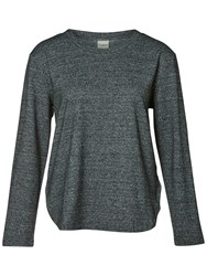 Selected Femme Lissa Loose Fit Sweatshirt Dark Grey Melange