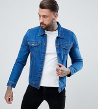 Brooklyn Supply Co. Co Mid Wash Denim Jacket Bl1 Blue 1