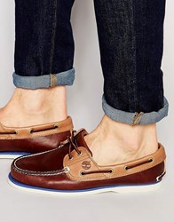 Timberland Classic Leather Boat Shoes Brown