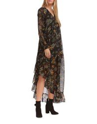 Walter Baker Brendan Asymmetric Long Sleeve Dress Botanica