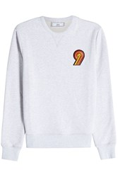 Ami Alexandre Mattiussi Embroidered Patch Cotton Sweatshirt