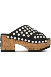 Mcq By Alexander Mcqueen Studded Leather Platform Clogs Black