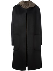 Jil Sander Single Breasted Coat Black