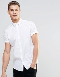 Asos Smart Shirt In White With Short Sleeves White