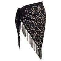 Chesca Floral Lace Sarong Black