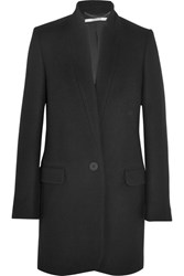 Stella Mccartney Bryce Melton Wool Blend Coat Black