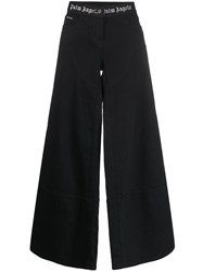 Palm Angels Wide Leg Logo Waistband Jeans Black