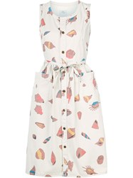 Visvim Shell Print Dress Nude And Neutrals