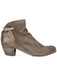 Officine Creative Chabrol Zip Ankle Boots Brown