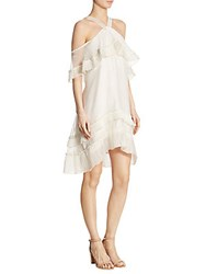 Delfi Collective Blake Pleated Loose Fit Dress White
