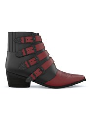 Toga Pulla Colour Block Western Boots Black