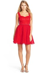 Junior Women's A. Drea Lace Skater Dress