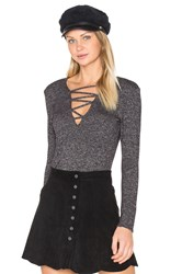 Riller And Fount Norman Criss Cross Top Charcoal