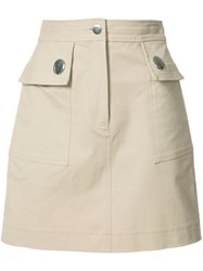 Adam By Adam Lippes Pocketed Mini Skirt Nude Neutrals