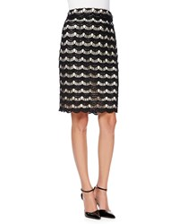 Kate Spade Scalloped Lace Pencil Skirt Women's Black