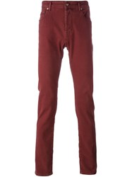 Jacob Cohen Slim Fit Regular Length Jeans Red