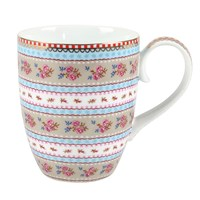 Pip Studio Large Ribbon Rose Mug Khaki