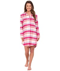 Jockey Flannel Plaid Sleepshirt Autumn Plaid Women's Pajama Brown