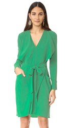 Bcbgmaxazria Mikhaela V Neck Dress Kelly Green