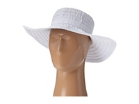 Scala Crushable Big Brim Ribbon Sun Hat White Caps