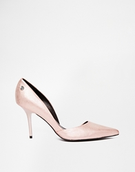 Blink Patent Nude Pointed Toe Heeled Court Shoes