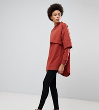 Ivy Park Double Layer Sweatshirt Dress Pale Ginger Orange