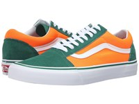 Vans Old Skool Brite Verdant Green Neon Orange Skate Shoes Brite Verdant Green Neon Orange