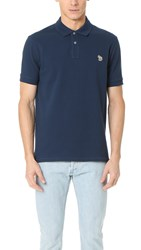 Paul Smith Zebra Logo Polo Blue
