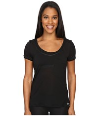 Alo Yoga Rise Short Sleeve Top Black Black Women's Clothing