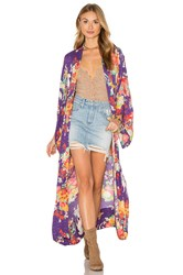 Spell And The Gypsy Collective Wild Horses Kimono Purple