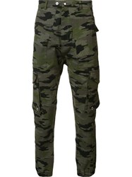 Mr. Completely Camouflage Print Trousers Brown