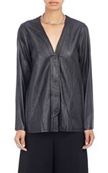 Opening Ceremony Leather V Neck Cardigan Colorless